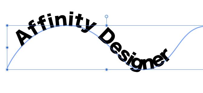 Affinity Designerの使い方-パスに沿ってテキストを書く