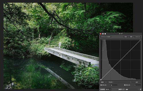 Affinity Photoの使い方 色調補正 調整-カーブ(トーンカーブ)